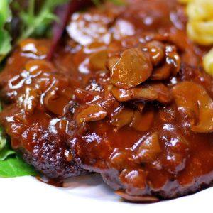 Kudu Fillet and Mushroom Sauce