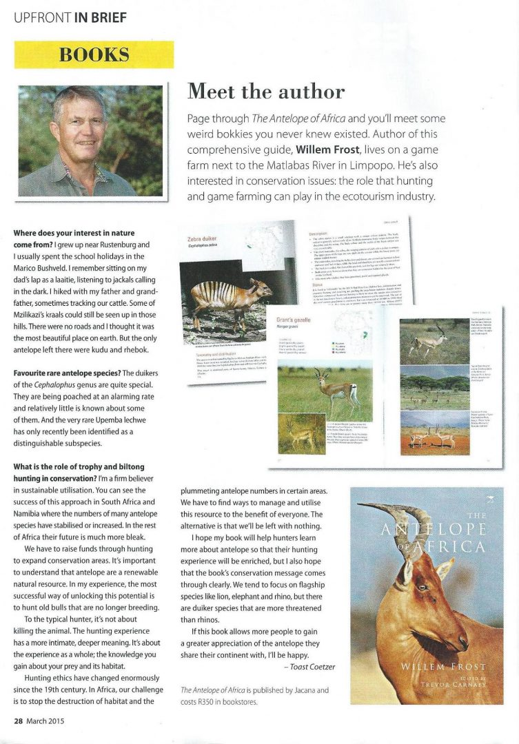 Book Review - Antelope of Africa - Willem Frost by Toast Coetzer