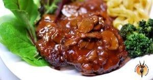 Kudu Fillet and Mushroom Sauce Recipe
