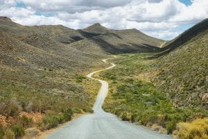 South Africa is a hunter's dream - Deserted road into Cederberg nature reserve